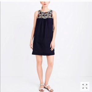 Jcrew embroidered dress